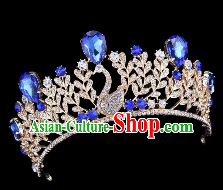 Top Grade Bride Wedding Hair Jewelry Accessories Baroque Court Princess Royal Crown for Women