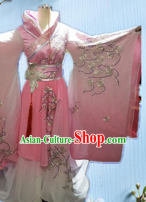 Chinese Spring and Autumn Period Imperial Consort Embroidered Costumes Ancient Beauty Xi Shi Hanfu Dress for Women