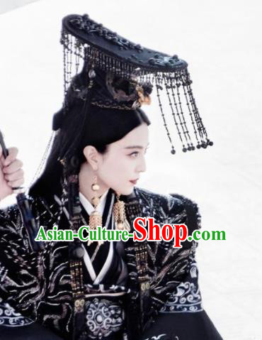 Chinese Ancient Qin Dynasty Queen Hair Accessories Phoenix Coronet Hats for Women