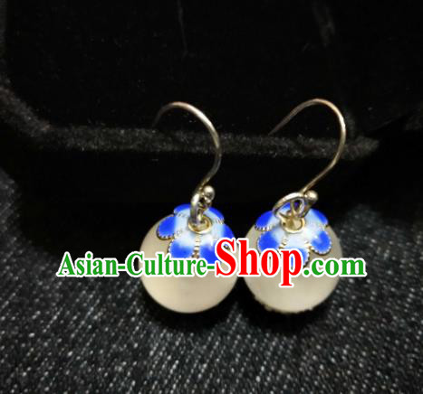 Chinese Ethnic Jewelry Accessories Mongolian Minority Nationality Earrings for Women