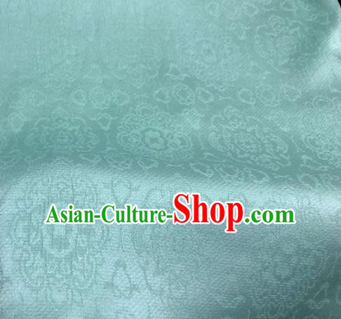 Asian Chinese Traditional Green Brocade Fabric Chinese Costume Silk Fabric Material
