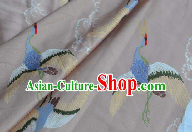 Asian Chinese Traditional Fabric Crane Pattern Design Brocade Fabric Chinese Costume Silk Fabric Material