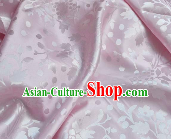 Asian Chinese Fabric Traditional Pattern Design Pink Brocade Fabric Chinese Costume Silk Fabric Material