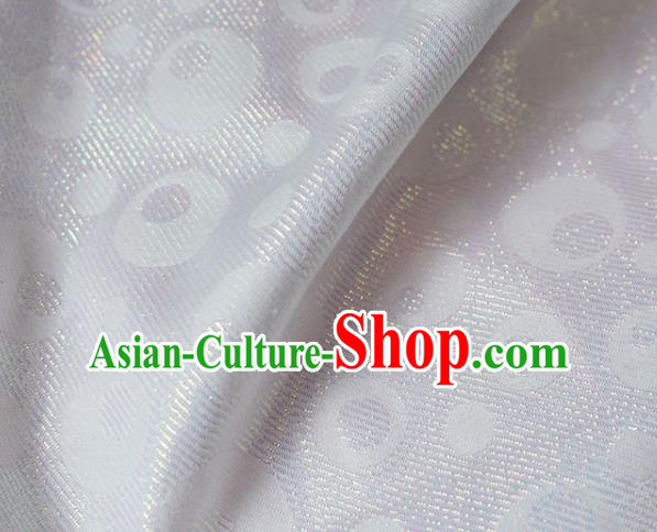 Asian Chinese Fabric Traditional Classical Pattern Design White Brocade Fabric Chinese Costume Silk Fabric Material