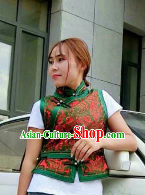 Chinese Traditional Mongol Minority Ethnic Costume Mongolian Vest for Women