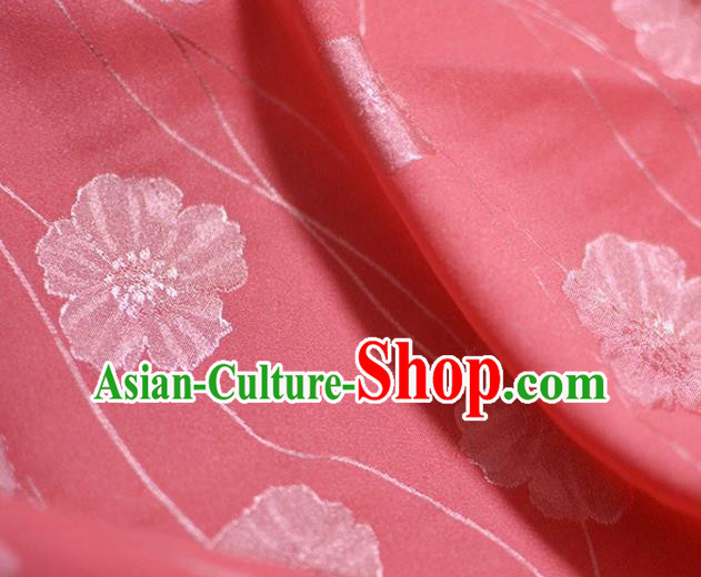 Asian Chinese Fabric Traditional Pattern Design Watermelon Red Brocade Fabric Chinese Costume Silk Fabric Material
