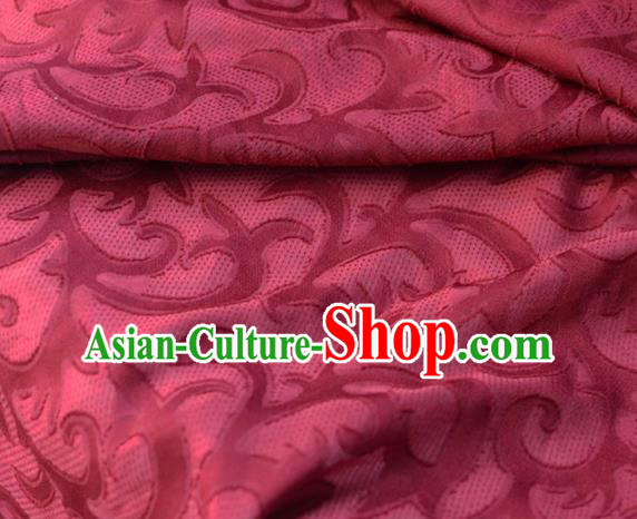 Asian Chinese Fabric Traditional Pattern Design Rosy Brocade Fabric Chinese Costume Silk Fabric Material