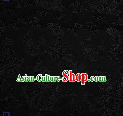 Chinese Traditional Brocade Fabric Asian Dragons Pattern Design Satin Tang Suit Silk Fabric Material