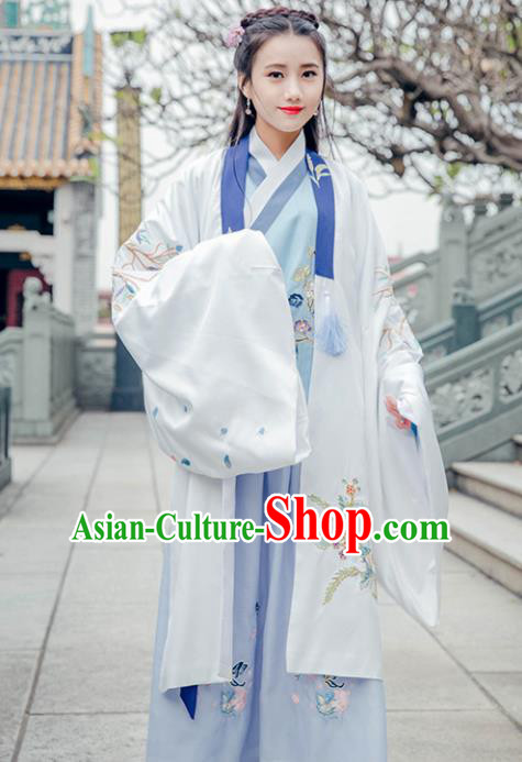 Traditional Chinese Ancient Palace Lady Hanfu Dress Ming Dynasty Princess Embroidered Historical Costumes for Women