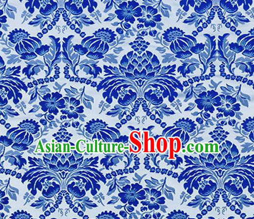 Chinese Traditional Cheongsam Nanjing Brocade Material Silk Fabric Classical Pattern Design Satin Drapery