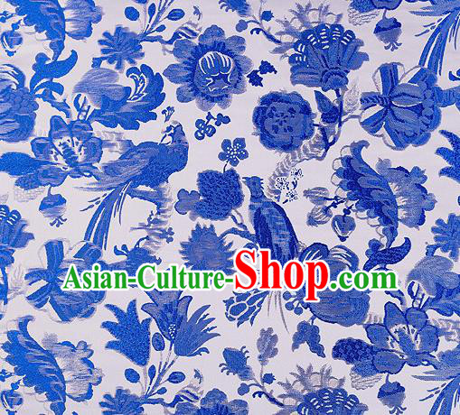 Chinese Traditional Cheongsam Fabric Nanjing Brocade Silk Material Classical Pattern Design Satin Drapery