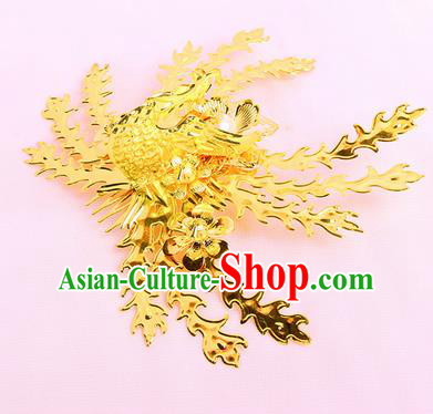 Chinese Traditional Handmade Hair Accessories Ancient Queen Phoenix Hair Comb Hairpins for Women