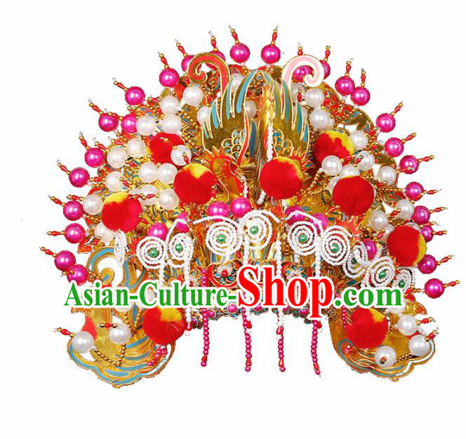 Chinese Traditional Handmade Hairpins Hair Accessories Ancient Wedding Bride Phoenix Coronet for Women