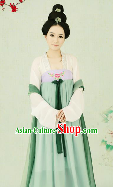 Chinese Traditional Tang Dynasty Palace Lady Costumes Ancient Princess Clothing for Women