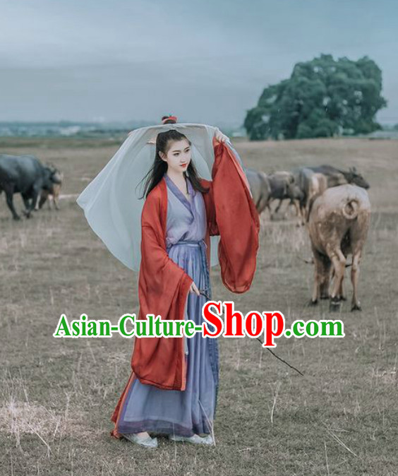 Traditional Ancient Chinese Swordswoman Costume Han Zhuang Hanfu Clothing