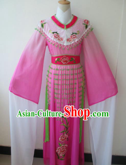 Chinese Traditional Peking Opera Princess Costumes Ancient Fairy Rosy Dress for Adults