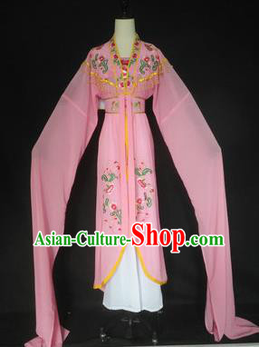 Chinese Traditional Peking Opera Costumes Ancient Court Maid Pink Dress for Adults