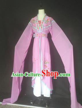 Chinese Traditional Peking Opera Costumes Ancient Court Maid Lilac Dress for Adults