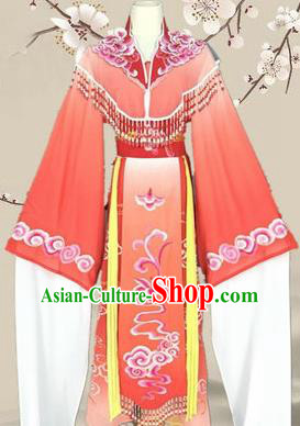 Chinese Traditional Peking Opera Diva Princess Costumes Ancient Beijing Opera Red Dress for Adults