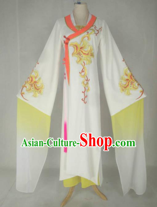 Chinese Traditional Peking Opera Princess Costumes Ancient Beijing Opera Diva Yellow Dress for Adults