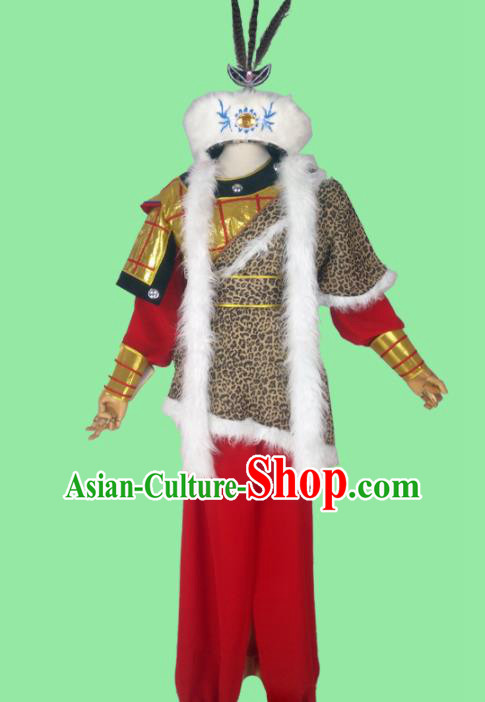 Chinese Traditional Peking Opera Takefu Warrior Costumes for Adults