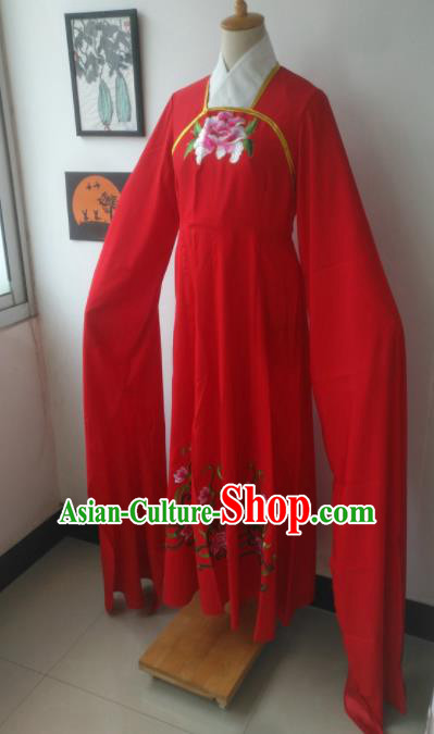 Chinese Traditional Peking Opera Princess Costumes Ancient Fairy Embroidered Red Dress for Adults