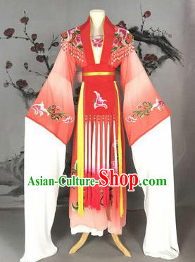 Chinese Traditional Peking Opera Actress Costumes Ancient Imperial Concubine Embroidered Red Dress for Adults