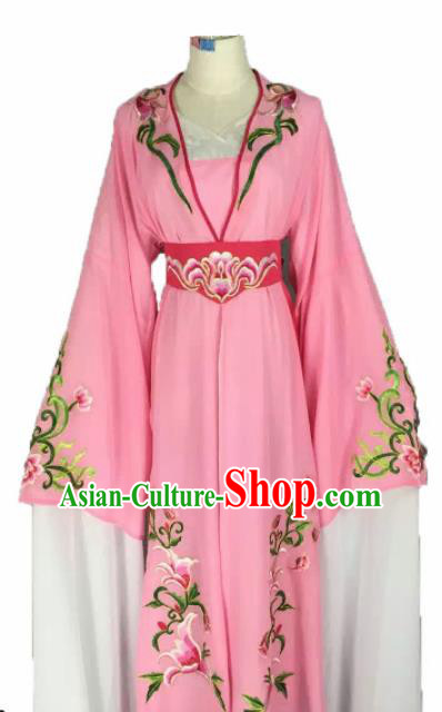 Chinese Traditional Peking Opera Actress Costumes Ancient Maidservants Pink Dress for Adults