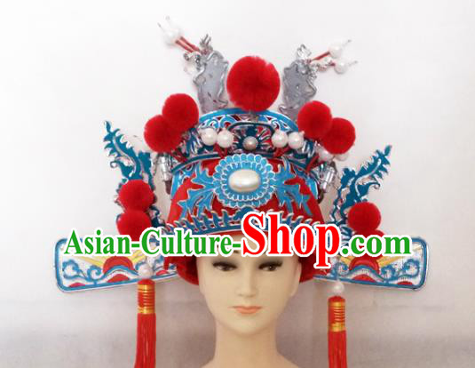 Chinese Traditional Peking Opera Number One Scholar Hat Ancient Niche Headwear for Adults