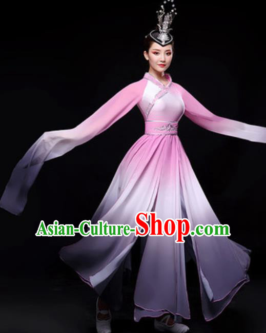 Chinese Traditional Folk Dance Costume Classical Dance Umbrella Dance Dress for Women