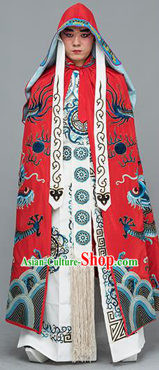 Chinese Traditional Peking Opera Takefu Costume Ancient Changing Faces Red Cloak for Adults