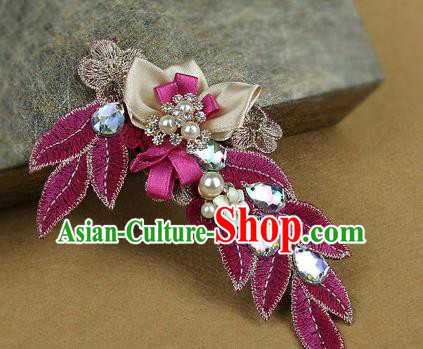 Top Grade Handmade Hair Claw Traditional Wedding Hair Accessories Headdress for Women