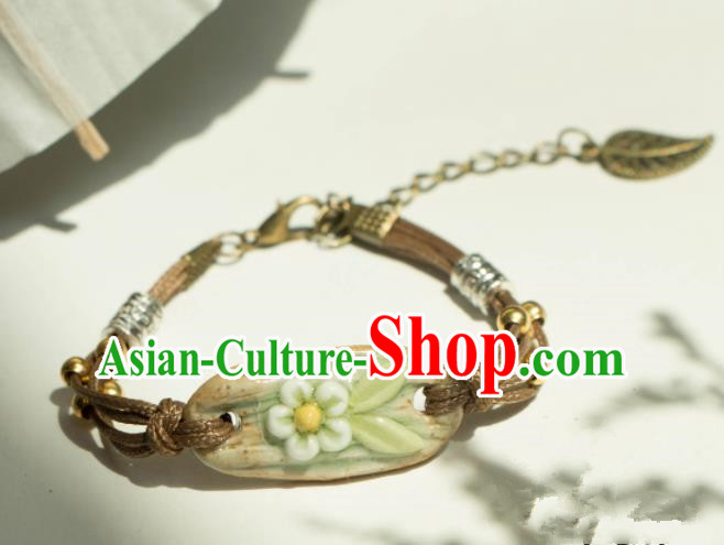 Traditional Chinese Handmade Bracelet Ancient Ceramics Bangle Accessories for Women