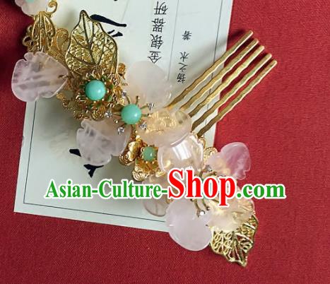 Handmade Chinese Ancient Hair Accessories Hanfu Flowers Hair Comb Hairpins for Women