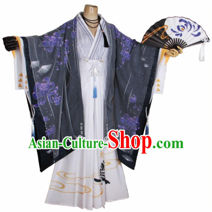 Traditional Chinese Ancient Swordsman Costumes for Men