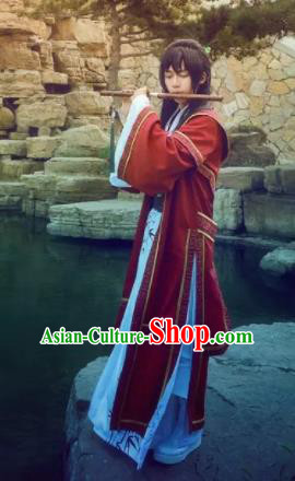 Chinese Traditional Cosplay Costumes Ancient Swordsman Clothing for Men