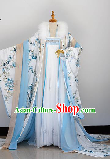 Traditional Chinese Handmade Cosplay Costumes Ancient Tang Dynasty Palace Princess Hanfu Dress for Women