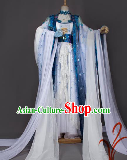 Chinese Traditional Cosplay Peri Costumes Ancient Princess Hanfu Dress for Women