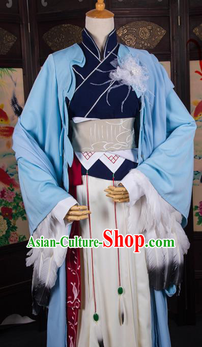Chinese Traditional Cosplay Swordsman Costumes Ancient Female Assassin Hanfu Dress for Women