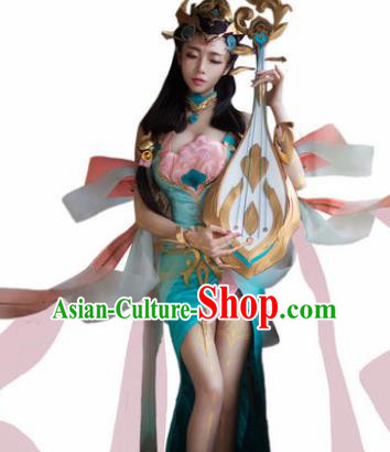 Top Grade Chinese Cosplay Imperial Consort Costumes Halloween Cartoon Characters Dress for Women