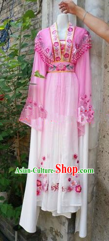 Chinese Traditional Beijing Opera Actress Costumes Ancient Nobility Lady Embroidered Pink Dress for Women
