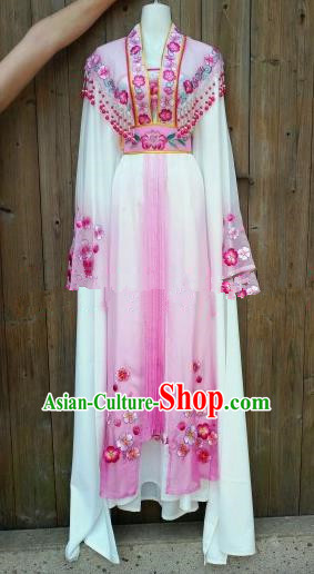 Chinese Traditional Beijing Opera Princess Costumes Ancient Nobility Lady Embroidered Pink Dress for Women