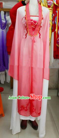 Chinese Traditional Beijing Opera Actress Pink Dress Ancient Court Maid Embroidered Costumes for Women