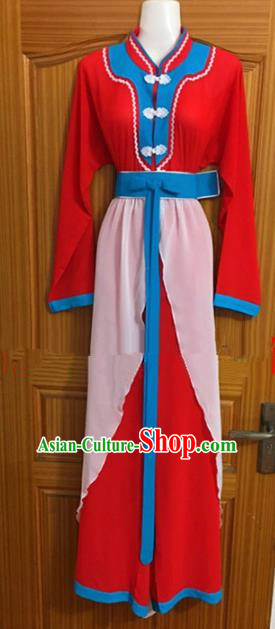 Chinese Traditional Beijing Opera Red Dress Ancient Peri Embroidered Costumes for Rich