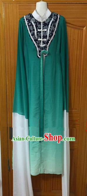Chinese Traditional Peking Opera Peri Green Dress Ancient Nobility Lady Embroidered Costumes for Rich