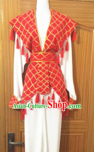 Chinese Traditional Peking Opera Fisher Maiden Dress Ancient Maidservants Embroidered Costumes for Women