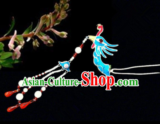 Chinese Traditional Ancient Phoenix Tassel Hairpins Beijing Opera Princess Hair Accessories for Women
