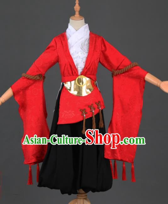 Traditional Chinese Cosplay Hanfu Dress Ancient Peri Princess Costume for Women
