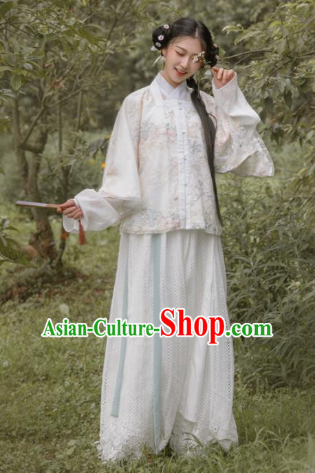 Chinese Ancient Noble Lady Ming Dynasty Princess Embroidered Costumes for Women