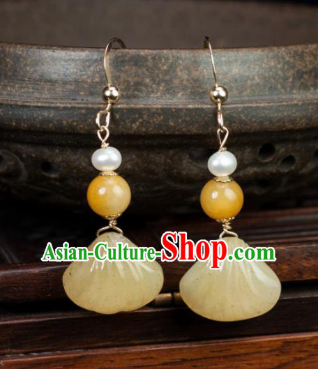 Chinese Traditional Jewelry Accessories Ancient Hanfu Agate Earrings for Women